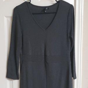 Dresses - Long sleeve maxi dress with center split